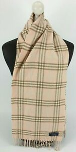 BURBERRY SCARF 100% LAMBSWOOL FOR MEN AND WOMEN MADE IN ENGLAND PINK FR