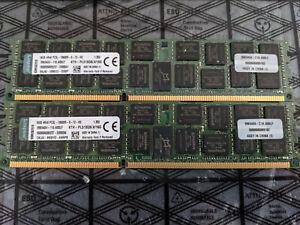 32GB (2x 16GB) DDR3 SERVER RAM 2Rx4 PC3L-10600R Kingston