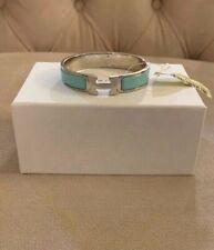 New Hermes Clic H Enamel Bracelet Lagon Tiffany Blue Silver Size PM NWT LIMITED!