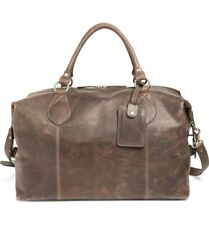 Frye 185843 Mens Logan Overnight Leather Casual Duffle Bag Slate