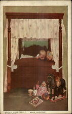 Kids Wake Up to Find Toys at Foot of Bed Mary Sigsbee Ken Postcard