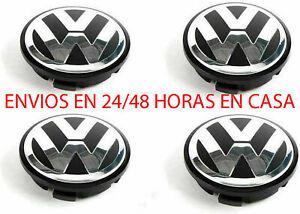 4 TAPAS VW Tapacubos de 65mm Tiguan Polo Passat para Llantas Golf 3B7601171