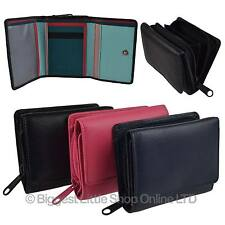 Ladies Girls Small Compact Leather Zip Around Purse/Wallet by Golunski