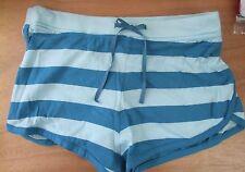 Ladies/Girls Size 14 Summer/Beach/tennis Shorts 100% cotton Blue Stripe