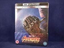 AVENGERS - Infinity War 4K - Steelbook - Bluray - VF NL - Neuf - Titre Tranche