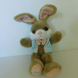 Bunny Rabbit Plush Pose-able Ears Peter Cottontail Stuffed Vintage Easter Gift