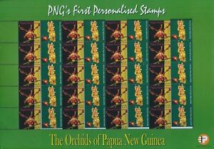 PAPUA New Guinea 2007 ORCHIDS K3.35 Personalised Flower SHEET of 20 MNH (pap31)
