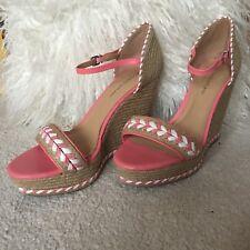 Pink Espadrille Wedges Antonio Melani Size UK 7.5 Bohemian Summer Sandal Holiday