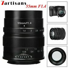 7artisans 55mm F1.4 APS-C Large Aperture Manual Focus Lens for Canon M1 M2 M3