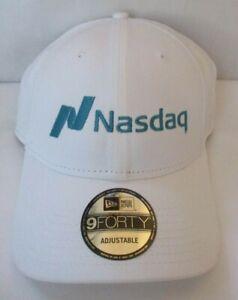 NASDAQ NEW ERA 9FORTY WHITE ADJUSTABLE CAP HAT