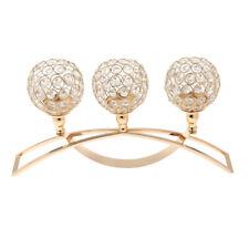 Kristall Votive Teelicht Lampe Kerzehalter Kerzenständer, Haus Dekor - Gold