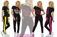 tuta donna completo gym T-Shirt + Jogginghose 4 colori tg u(dalla 40 alla 44)