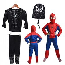 rojo / Azul Fiesta De Halloween Ropa Infantil Spiderman Disfraz Traje Niño