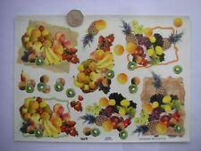 LOTTO 6 grandi fogli Extra lucida Gilded natura morta frutta DECOUPAGE NUOVO AFFARE