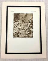 1927 Antico Stampa Olandese Vecchio Master The Martirio Di San Ursula Peter Paul
