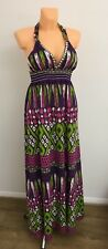 Ladies Mix Colours Maxi Long Flare Summer Dress Size UK L  River Island
