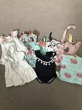 Infant Girls 6-9 Month Bathing Suits And Cover Up Lot