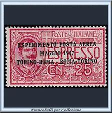 1917 Italia Regno Posta Aerea Espresso soprast. cent 25 n. 1 Centrato Integro **