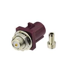 """Fakra solder """"D"""" Plug Male bulkhead connector for Violet Car GSM Cellular phone"""