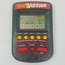 Yahtzee Electronic Hand Held Game Rolling Dice Smokey Clear MB 1995 WORKS