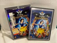 Snow White and the Seven Dwarfs (Blu-ray+DVD, 2009 3-Disc Set) NEW with Slip OOP