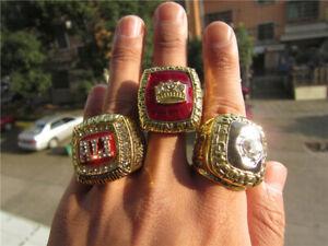3pcs 1964 1974 1978 Muhammad Ali Commissioned Boxing Team Ring Boy Fan Men Gift