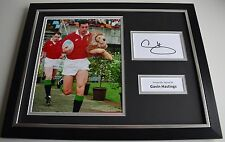 Gavin Hastings SIGNED FRAMED Photo Autograph 16x12 display British Lions AFTAL