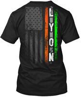 Lyon Family Irish American Flag Hanes Tagless Tee T-Shirt