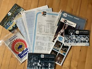 Buffalo Braves Media Guides, Game-Issued Press, Stat Sheets, Rare (15 ct.)