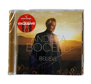 Andrea Bocelli - Believe Target Exclusive +2 Songs 2020 CD Sealed Cracked Case