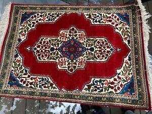 Semi Antique Silk Qumm Qomm Persiann Rug Jewel Colors