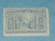 6 cent 1893 Columbian Issue (SC235) Mint, No Gum