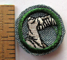 RARE 1947 Girl Scout SCULPTURE BADGE Art Sculpting Wing Statue Torso Patch WHITE