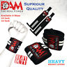 DAM 12 Inch WRIST WRAPS HEAVY DUTY POWERLIFTING BODYBUILDING GYM SUPPORT STRAPS