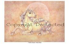 Selina Fenech Print Purrfect Friends Unicorn Kitten Cat Horse 8.5x11 Pink Yellow