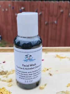 Activated Charcoal & Tea Tree Facial Wash 2.5 Oz Help With Acne And Dry Skin
