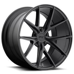 """Niche M117 Misano 18x8 5x112 +30mm Matte Black Wheel Rim 18"""" Inch"""