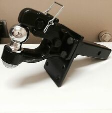 "2.5 ton PINTLE 2"" Ball + Adjustable receiver BALL HITCH TOWING Heavy!!"