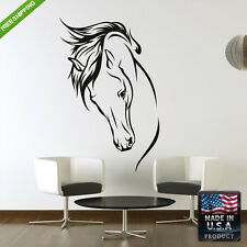 Wall Vinyl Decal Mural Sticker Horse Head Animal Tree Bedroom (Z125)