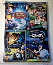 4 Walt Disney Animated DVD's