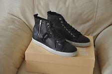 NEW John Galliano High Top Zip Leather Sneakers Men's