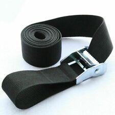Black Tie Down Strap Strong Ratchet Belt Luggage Bag Cargo Lashing Metal Buckle4