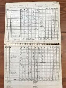 1947 SPALDING OFFICIAL BASEBALL SCORE BOOK Yankees Phillies Cardinals Tigers