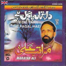 MARATAB ALI - DIL TAAN PAGAL HAI VOL 21 -NEW CD -FREE UK POST