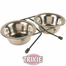 Set de 2 comederos para perros estructura patas Trixie