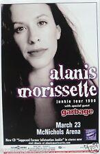 Alanis Morissette / Garbage 1999 Denver Concert Tour Poster -Rock Music