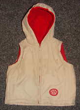 BHS Baby Reversible Quilted Hooded Body Warmer 9-12M Infant Clothing Gilet