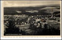 Schmiedefeld Thüringen DDR Postkarte 1960 Gesamtansicht Panorama Wald ungelaufen