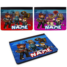 Personalised Roblox iPad Case Gamer Cover Initial Boys Gift Apple All Models