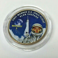 .50 2007 Colorized Kennedy Half Dollar Mercury 3 NASA Alan Shepard Commemorative